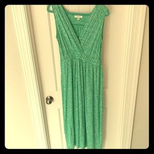 Summertime marled turquoise maxi dress by Spense